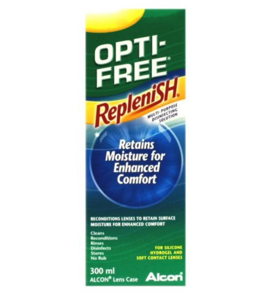 Alcon Opti-Free Replenish Soft Contact Lens Solution 300 ml